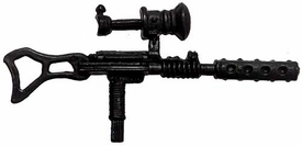 Generic 3 3/4 Inch LOOSE Action Figure Accessory Black Custom Uzi with Scope & Silencer