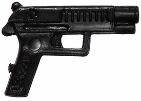 Generic 3 3/4 Inch LOOSE Action Figure Accessory Black Heavy Pistol
