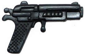 Generic 3 3/4 Inch LOOSE Action Figure Accessory Metallic Blue Heavy Pistol