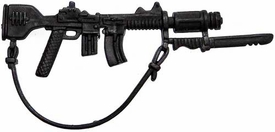 Generic 3 3/4 Inch LOOSE Action Figure Accessory Black Rifle with Dual Clips, Bayonet & Sling