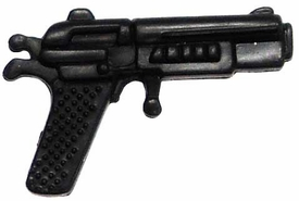 Generic 3 3/4 Inch LOOSE Action Figure Accessory Black Large Heavy Pistol