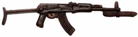 Generic 3 3/4 Inch LOOSE Action Figure Accessory Brown AK-47 with Bayonet & Wire Stock