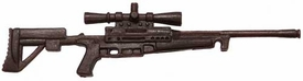 Generic 3 3/4 Inch LOOSE Action Figure Accessory Brown Sniper Rifle