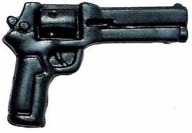Generic 3 3/4 Inch LOOSE Action Figure Accessory Metallic Blue Magnum Pistol
