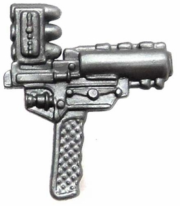 Generic 3 3/4 Inch LOOSE Action Figure Accessory Silver Top-Loading Grenade Pistol