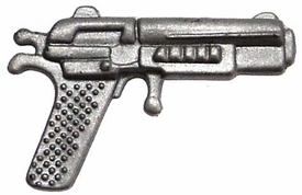 Generic 3 3/4 Inch LOOSE Action Figure Accessory Silver Heavy Pistol