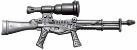 Generic 3 3/4 Inch LOOSE Action Figure Accessory Silver Laser Sniper Rifle