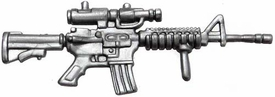 Generic 3 3/4 Inch LOOSE Action Figure Accessory Silver M4 Rifle with Foregrip