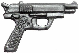 Generic 3 3/4 Inch LOOSE Action Figure Accessory Silver Pistol [Out of Ammo]