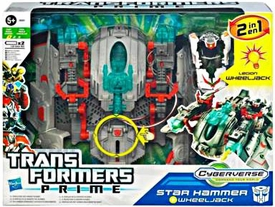 Transformers Prime Cyberverse Commander Action Figure Star Hammer Wheeljack With Spaceship