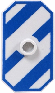 LEGO Shield LOOSE Shield Large Rectangular Shield with Blue Stripes & Center Stud