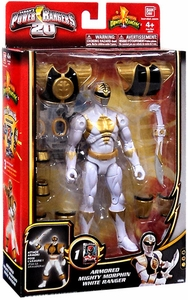 Power Rangers Megaforce Deluxe Action Figure Armored Mighty Morphin White Ranger