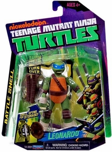 Nickelodeon Teenage Mutant Ninja Turtles Basic Action Figure Battle Shell Leonardo