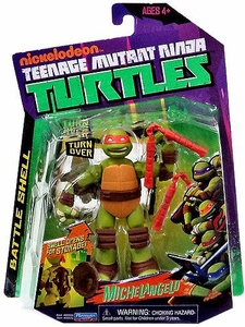 Nickelodeon Teenage Mutant Ninja Turtles Basic Action Figure Battle Shell Michelangelo