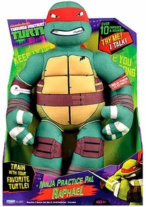 Nickelodeon Teenage Mutant Ninja Turtles 15 Inch Plush with Sound Ninja Practice Pal Raphael