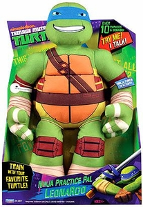 Nickelodeon Teenage Mutant Ninja Turtles 15 Inch Plush with Sound Ninja Practice Pal Leonardo