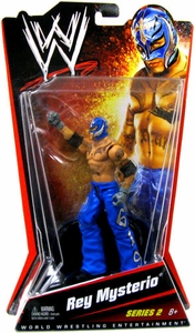 Mattel WWE Wrestling Basic Series 2 Action Figure Rey Mysterio [Dark Blue Mask & Pants] BLOWOUT SALE!