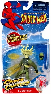 Spectacular Spider-Man Animated Series Action Figure Spider Charged Electro [with Lightning Blast & Cyber Spider]