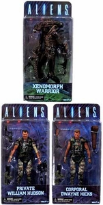 NECA Aliens Series 1 Set of 3 Action Figure [Hicks, Hudson & Warrior Alien]