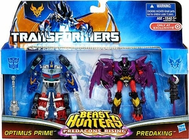 Transformers Prime Beast Hunters Predacons Rising Exclusive Action Figure 2-Pack Optimus Prime & Predaking