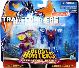 Transformers Prime Beast Hunters Predacons Rising Exclusive Action Figure 2-Pack Cindersaur & Smokescreen