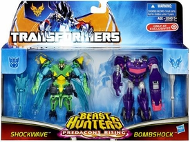 Transformers Prime Beast Hunters Predacons Rising Exclusive Action Figure 2-Pack Bombshock & Shockwave