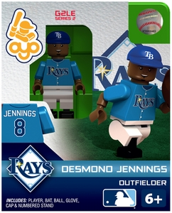 OYO Baseball MLB Generation 2 Building Brick Minifigure Desmond Jennings [Tampa Bay Rays]