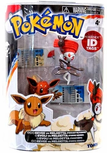 Pokemon TOMY Basic Figure 2-Pack Eevee & Meloetta {Pirouette Form}