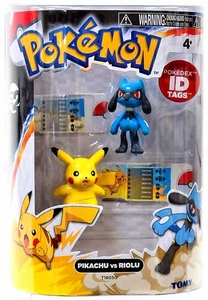 Pokemon TOMY Basic Figure 2-Pack Pikachu & Riolu