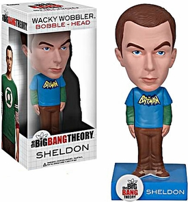 Funko Big Bang Theory Wacky Wobbler Bobble Head Sheldon [Batman Shirt]