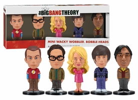 Funko Big Bang Theory Mini Wacky Wobbler Bobble Head 5-Pack