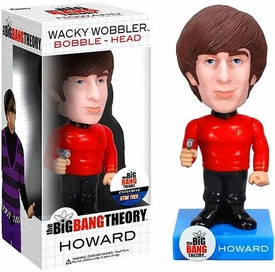 Funko Big Bang Theory Wacky Wobbler Bobble Head Howard [Star Trek Uniform]