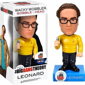 Funko Big Bang Theory Wacky Wobbler Bobble Head Leonard [Star Trek Uniform] Pre-Order ships March