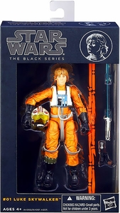 Star Wars Black 6 Inch Series 1 Action Figure Luke Skywalker [Rebel Pilot]