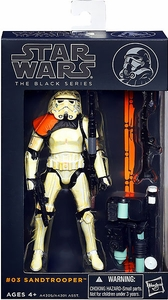 Star Wars Black 6 Inch Series 1 Action Figure Sandtrooper [Orange Pauldron]