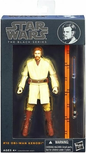 Star Wars Black 6 Inch Series 3 Action Figure Obi-Wan Kenobi [Episode III] New!