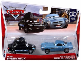 Disney / Pixar CARS MAINLINE 1:55 Die Cast Car 2-Pack Doug Speedcheck & Palace Danger Finn McMissle [Palace Chaos 8 & 9/9]