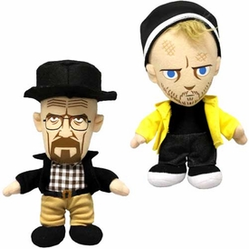 Mezco Toyz Breaking Bad 8 Inch Plush Figure Set Walter White & Jesse Pinkman Pre-Order ships March