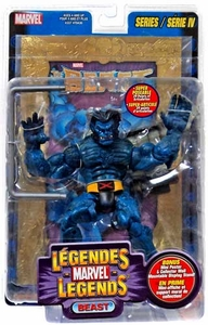 Marvel Legends Series 4 Action Figure Beast [Gold Foil Poster Variant]