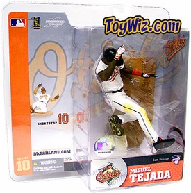 McFarlane Toys MLB Sports Picks Series 10 Action Figure Miguel Tejada (Baltimore Orioles) White Jersey
