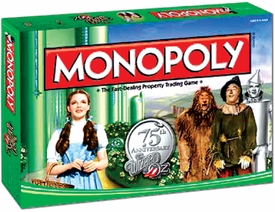 Monopoly Board Game Set The Wizard of Oz 75th Anniversary Collector's Edition
