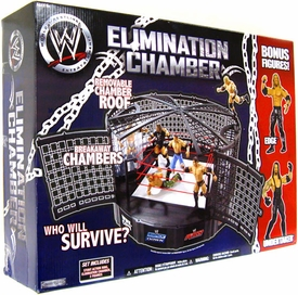 WWE Exclusive Wrestling Ring Elimination Chamber [Edge & Undertaker Action Figures!]