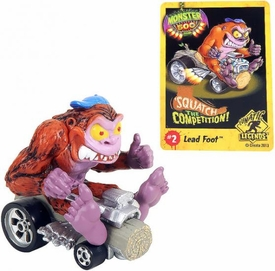 Monster 500 Trading Card & Small Car Figure Flattop Frank