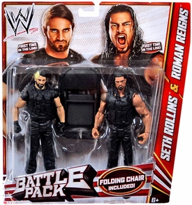 Mattel WWE Wrestling Basic Series 24 Action Figure 2-Pack Roman Reigns & Seth Rollins {The Shield!}