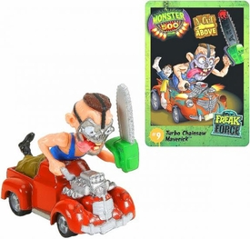 Monster 500 Trading Card & Small Car Figure Turbo Chainsaw Maverick