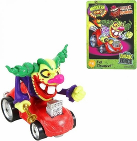 Monster 500 Trading Card & Small Car Figure Evil Clownevil