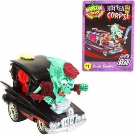 Monster 500 Trading Card & Small Car Figure Zoom Zombie