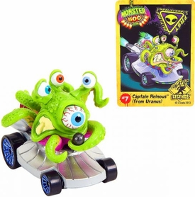 Monster 500 Trading Card & Small Car Figure Captain Heinous [From Uranus]
