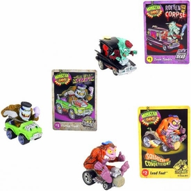 Monster 500 Trading Card & Small Car Collector's 3-Pack [Zoom Zombie, Lead Foot, Flattop Frank]