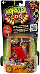 Monster 500 Trading Card & Small Car Figure Crocpot [Red Variant]